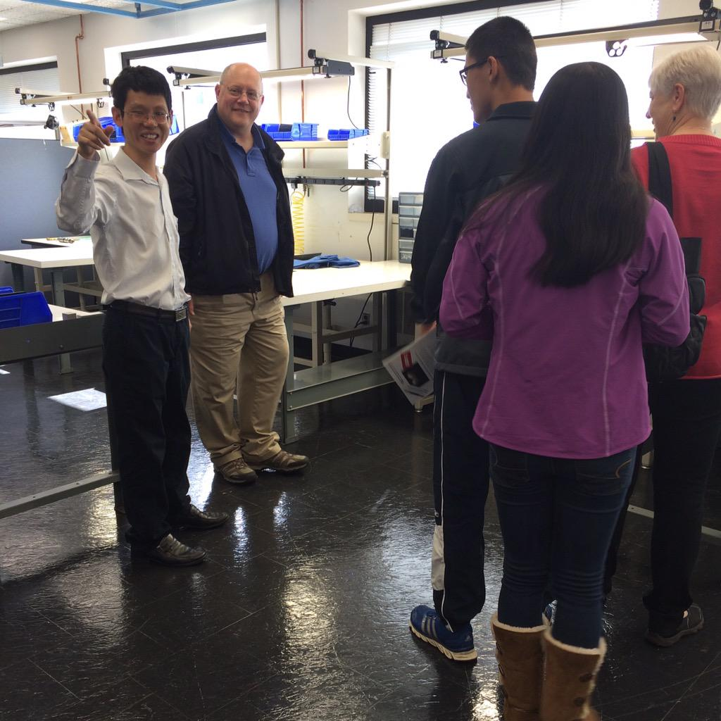 Dr. Chi Zhou talking with a family. #openhouse #visitub #UBuffalo http://t.co/k2aoV4w37l