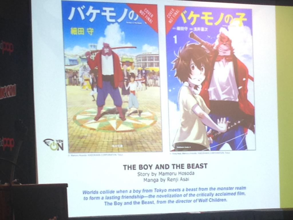 Deb Aoki On Twitter Yenpress At Nycc The Boy The Beast