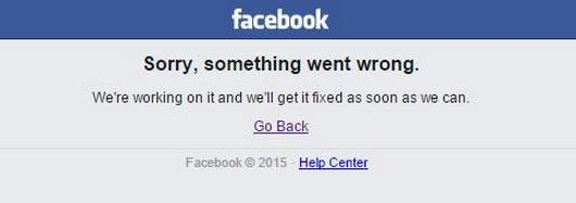 Facebook caida mundial !!