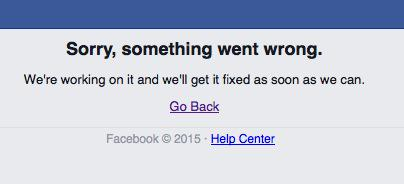 Facebook is down. Torn between irritation and the wild hope it self-implodes and is gone forever. (Just me?) http://t.co/Vl0hoEk4vo