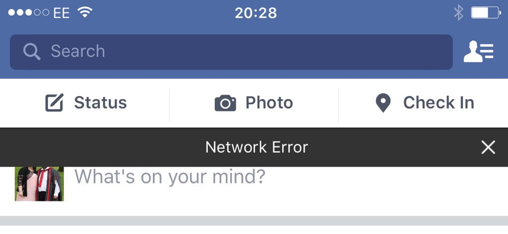Image result for Facebook app network error