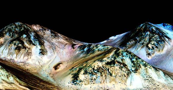Tracce di acqua salmastra su Marte.