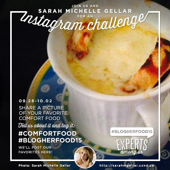 Join this week's Instagram challenge with @sarahmgellar! #ComfortFood #BlogHerFood15 ~LA http://t.co/8VOrCH5X2u