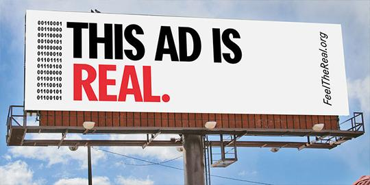 OAAA gets REAL in their latest industry campaign #FeelTheReal #OOH http://t.co/EH8P7NOZlo http://t.co/jw4YD2m8qo