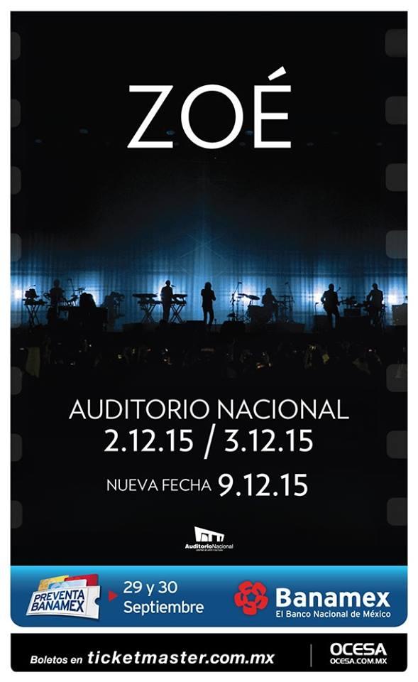 ¡Nueva fecha de @zoetheband en el @AuditorioMx! 9 de Diciembre. http://t.co/fkgjkX8exk