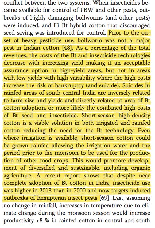 Behind Indian cotton farmer suicides: pests, cost of GMOs+pesticides & poverty -2015 study http://t.co/4Cr9Ddfadz http://t.co/GQLkHNUREP