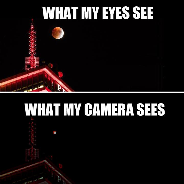 Image result for what you see vs what camera sees