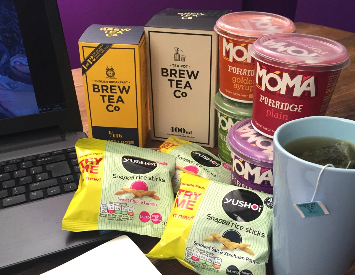 COMP TIME! Need a pick-me-up? Follow us, @brewteaco and @YushoiSnacks and RT to #WIN this awesome #WorkSaviour kit! http://t.co/nTsFhV5u9d