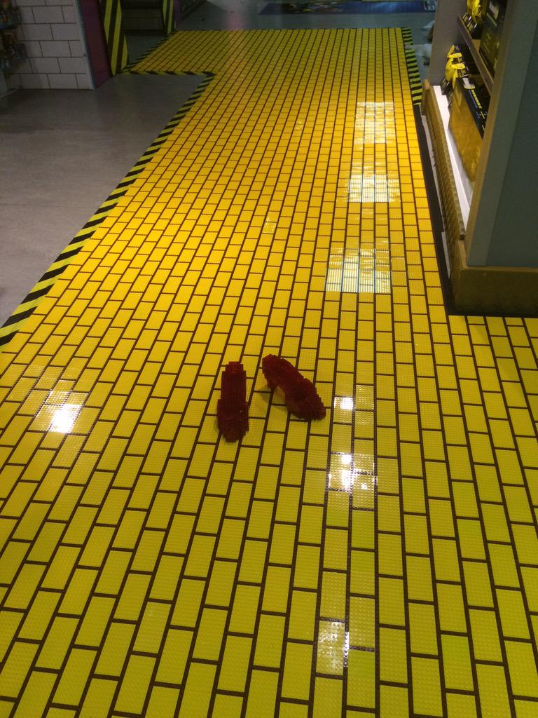 Markcampbell On Twitter Quot Lego Ruby Slippers On A Yellow