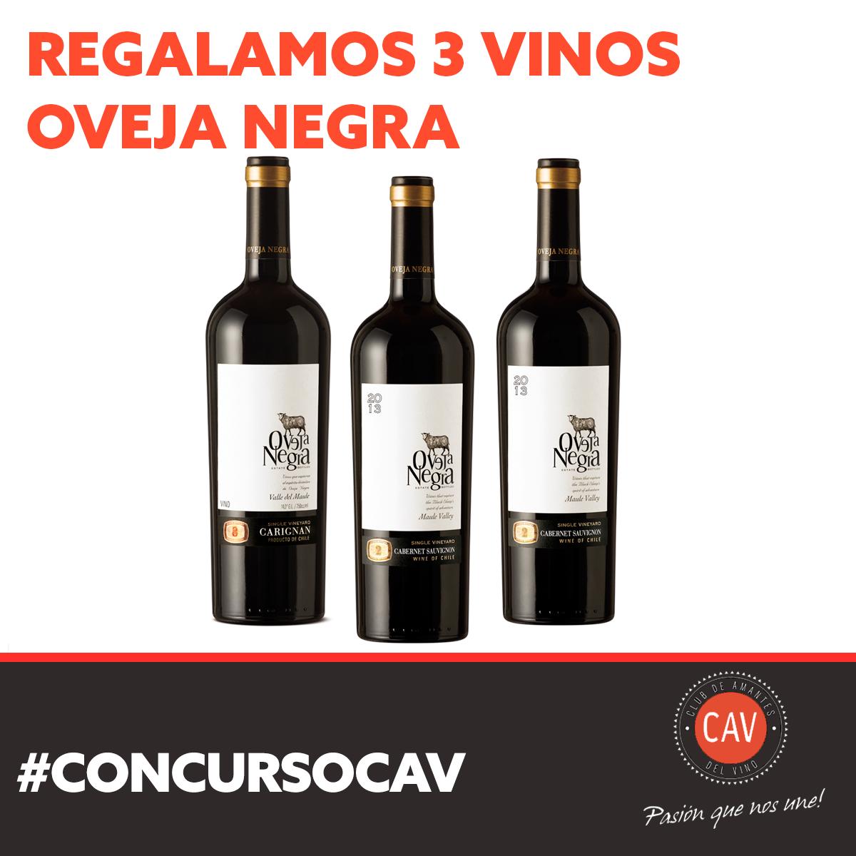 #CONCURSOCAV [RT Y FAVORITO] Ya estarás participando por tres #Vinos #OvejaNegra.Para participar debes seguirnos http://t.co/K4ul7RBQr8