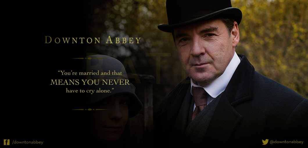 """Downton Abbey on Twitter: """"Such comforting words, Mr Bates ..."""