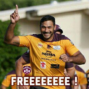 Freeeeeeeeeeeee! @brisbanebroncos Hodgo found Not Guilty. Free to play the #NRLGF!  #FreeHodgo http://t.co/Bd6KdoPyiL
