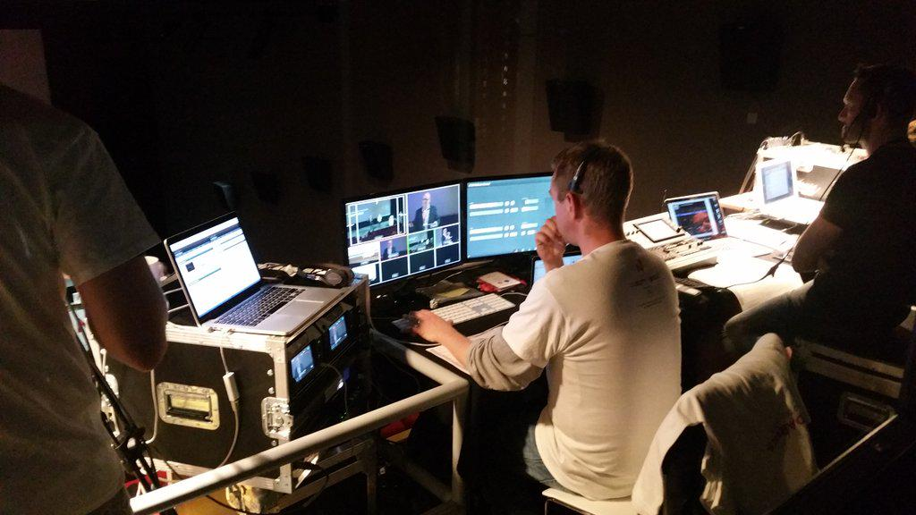 The marvellous Andy Smith (among others), manning the controls for #nb2015 @HOME_mcr http://t.co/CcsCfJfpK8
