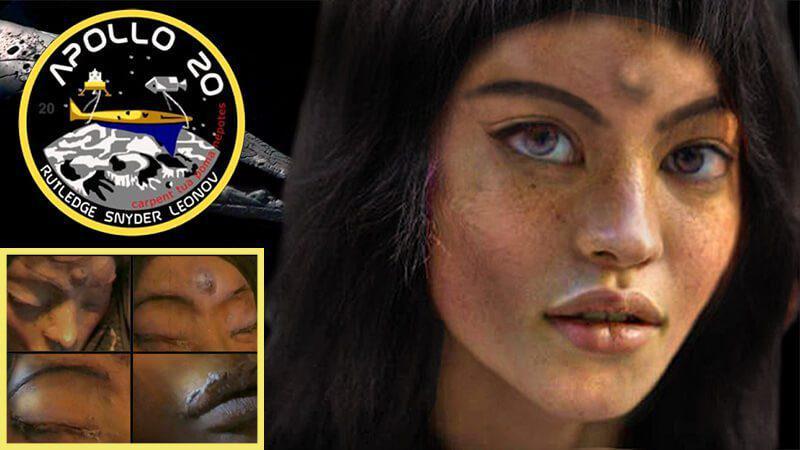 """Alieni sulla Luna: """"Mona Lisa"""" l'umanoide extraterrestre trovata da Apollo 20 dentro un UFO"""