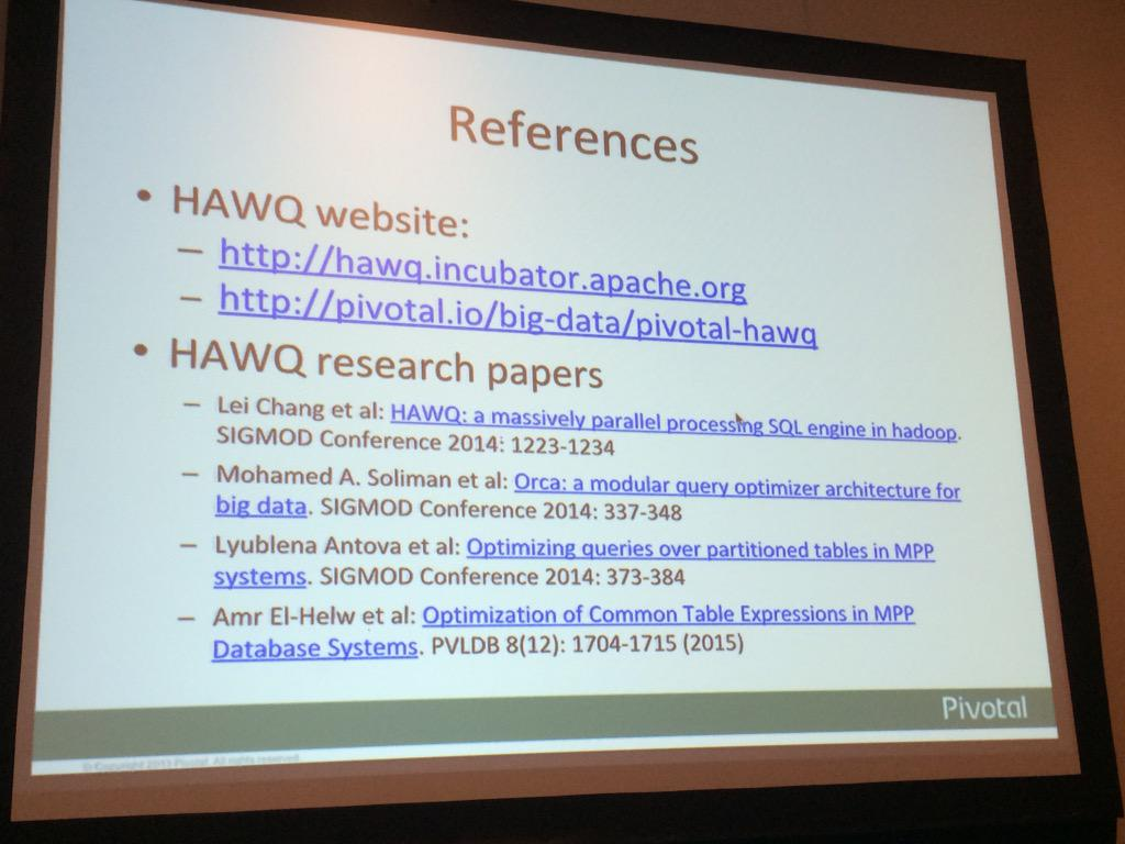 Apache Hawq Resources