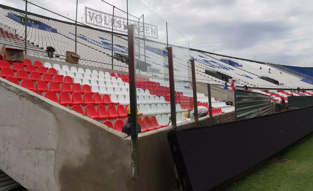 #Albirroja ¡Las obras en el Estadio de los Defensores del Chaco están casi a punto para las #EliminatoriasRusia2018!