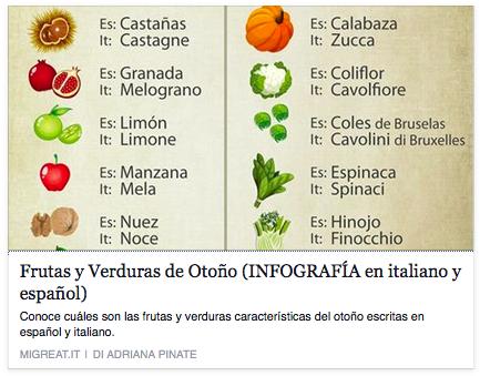 Viviendo en italia on twitter infographie con los - Verduras lista de nombres ...
