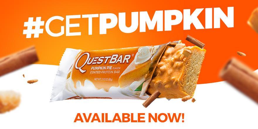 Quest Nutrition On Twitter Questpumpkinpie Quest Bars Available