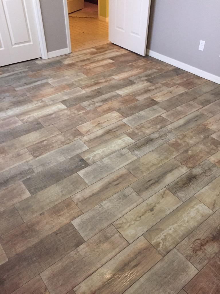 Ceramictec on twitter finished the bedroom in fishhawk florida using a 7x20 modeno julyo Wood porcelain tile planks
