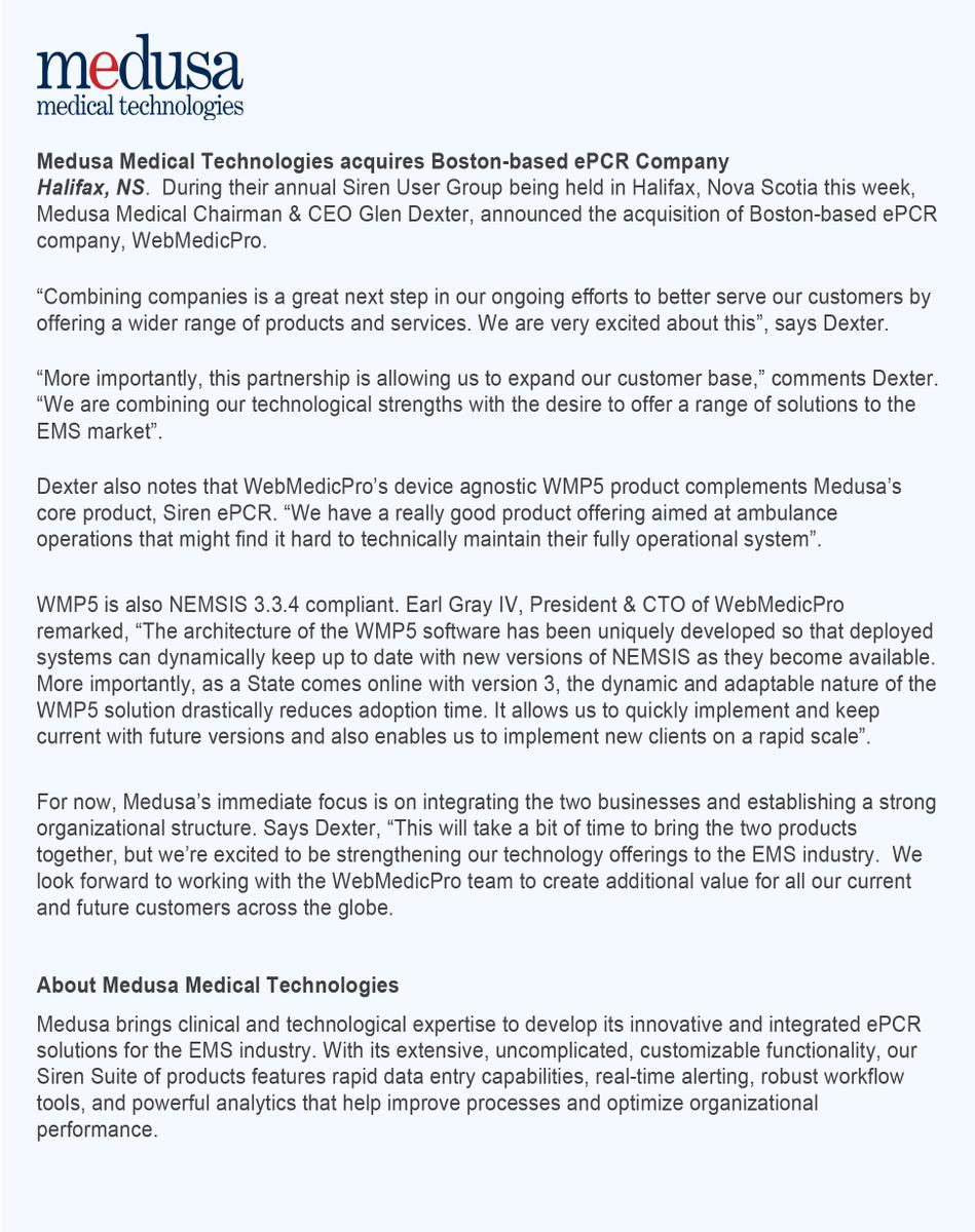 Medusa Medical Technologies on Twitter: