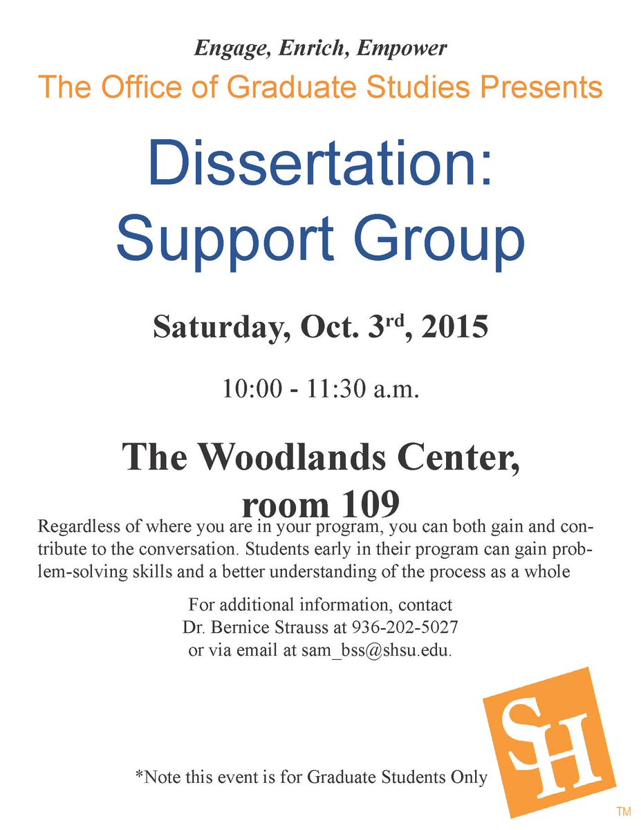 Dissertation support group