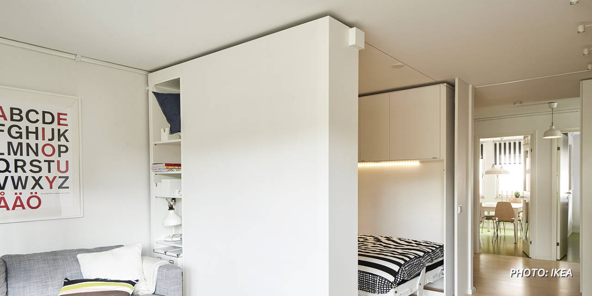 as apartments become smaller ikea is looking to develop movable walls