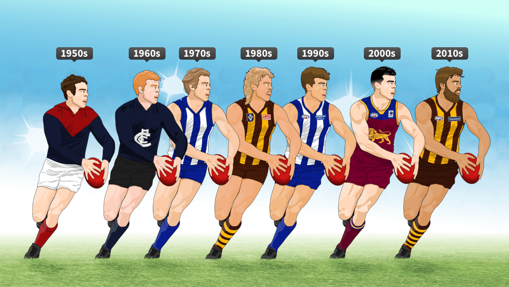 how to draw afl players