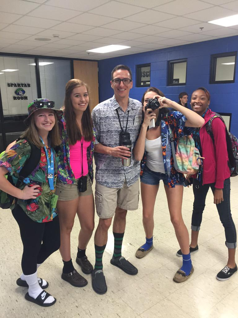 f581e141cbae4  CoachK DHS rocking the tacky tourist costume today! Well  done!pic.twitter.com bA6GoYFYMd