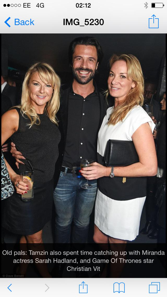 Cannot think of a better person to bump into ...Sarah Hadland... And Christian! !! http://t.co/ThVd4TOZyY