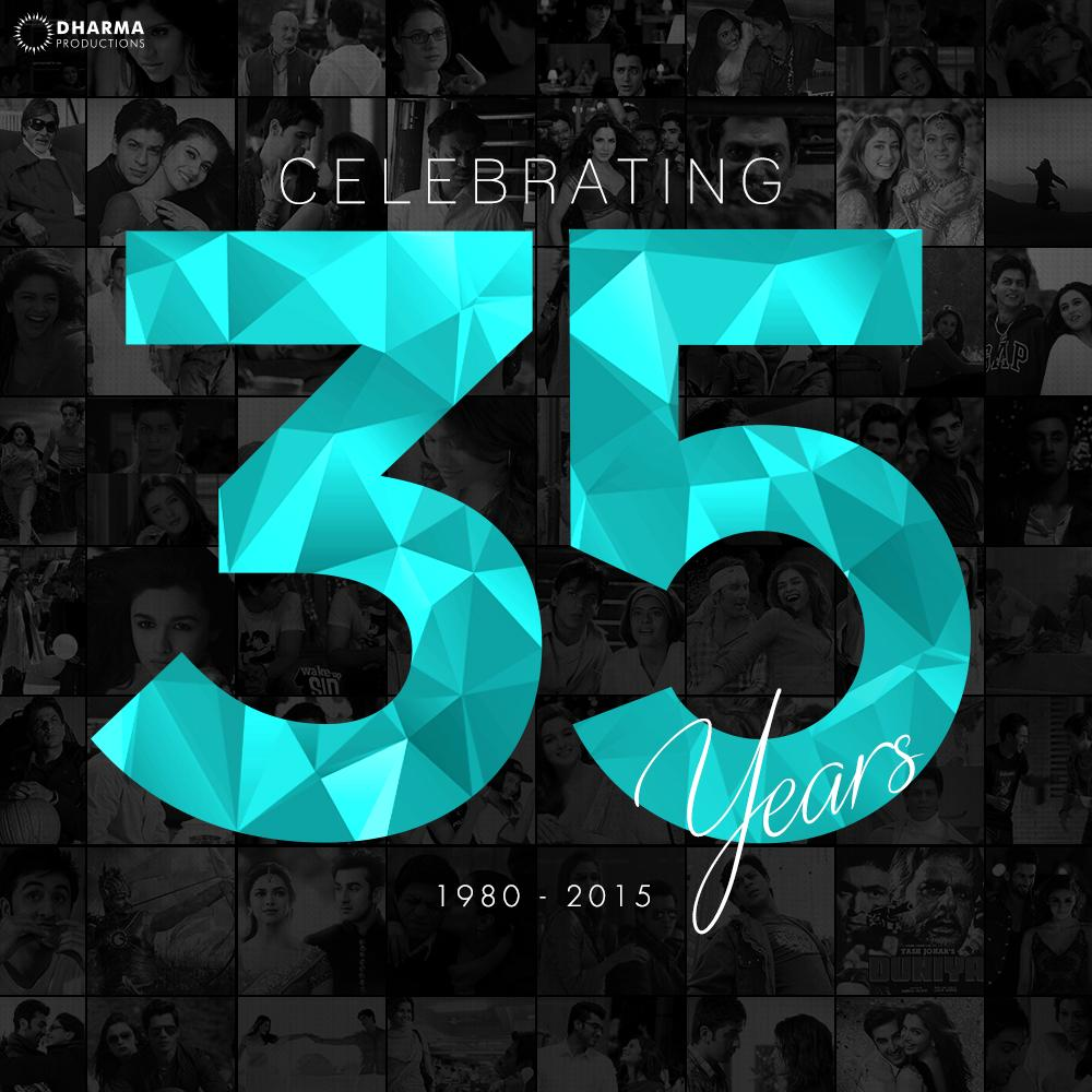 Heart-warming storylines, Stellar megastar casts. Record box-office collections. Get ready for #35YearsOfDharma! http://t.co/xKM7DAwLzI