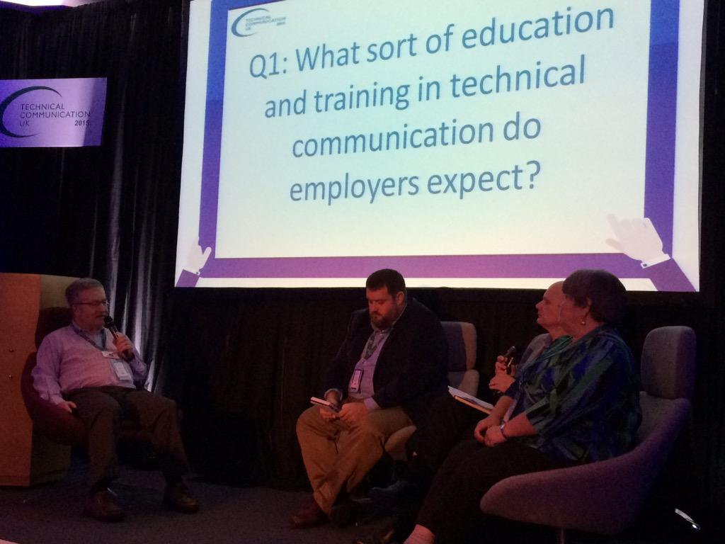 Also a good question: Do recruiters have the knowledge to select #techcomm candidates? How do they test? #tcuk15 http://t.co/xURuRoZ7iV