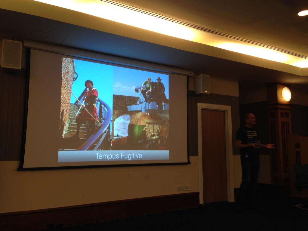 I envy @JK1440's experience with time travel. Great prep for dealing with users. #techcomm #tcuk15 http://t.co/Md0euZprrX