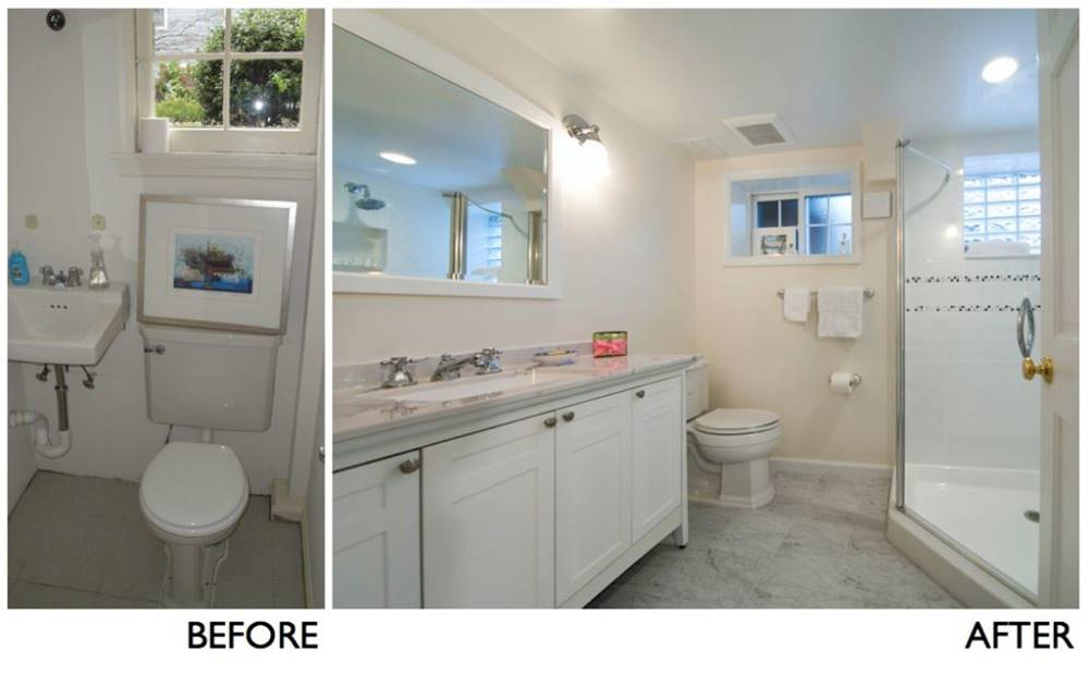 Bathreno Hashtag On Twitter - Bathroom expansion before and after