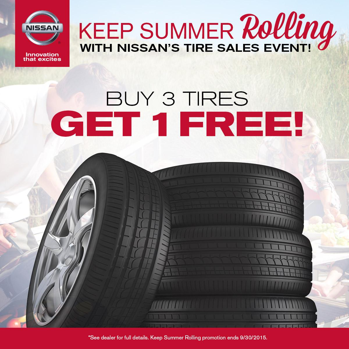 Buy 3 Get 1 Free Tires >> Carriage Nissan On Twitter It S Last Day To Buy 3 Tires And Get 1