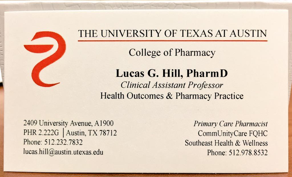 Lucas Hill, PharmD on Twitter: \