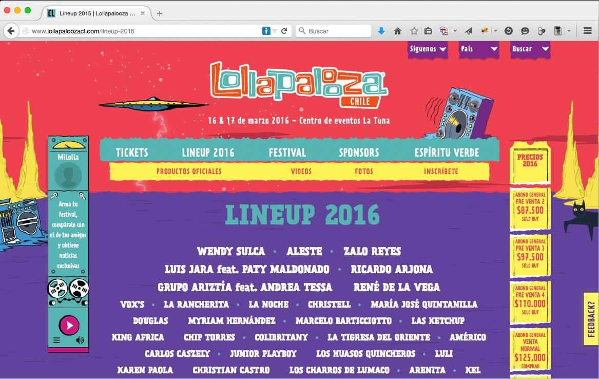 CABROS, AQUI EL LINE-UP DE LOLLA 2016!!!!!!!!!!! (Via Francisco Cabezas) http://t.co/c76qbTkk0D