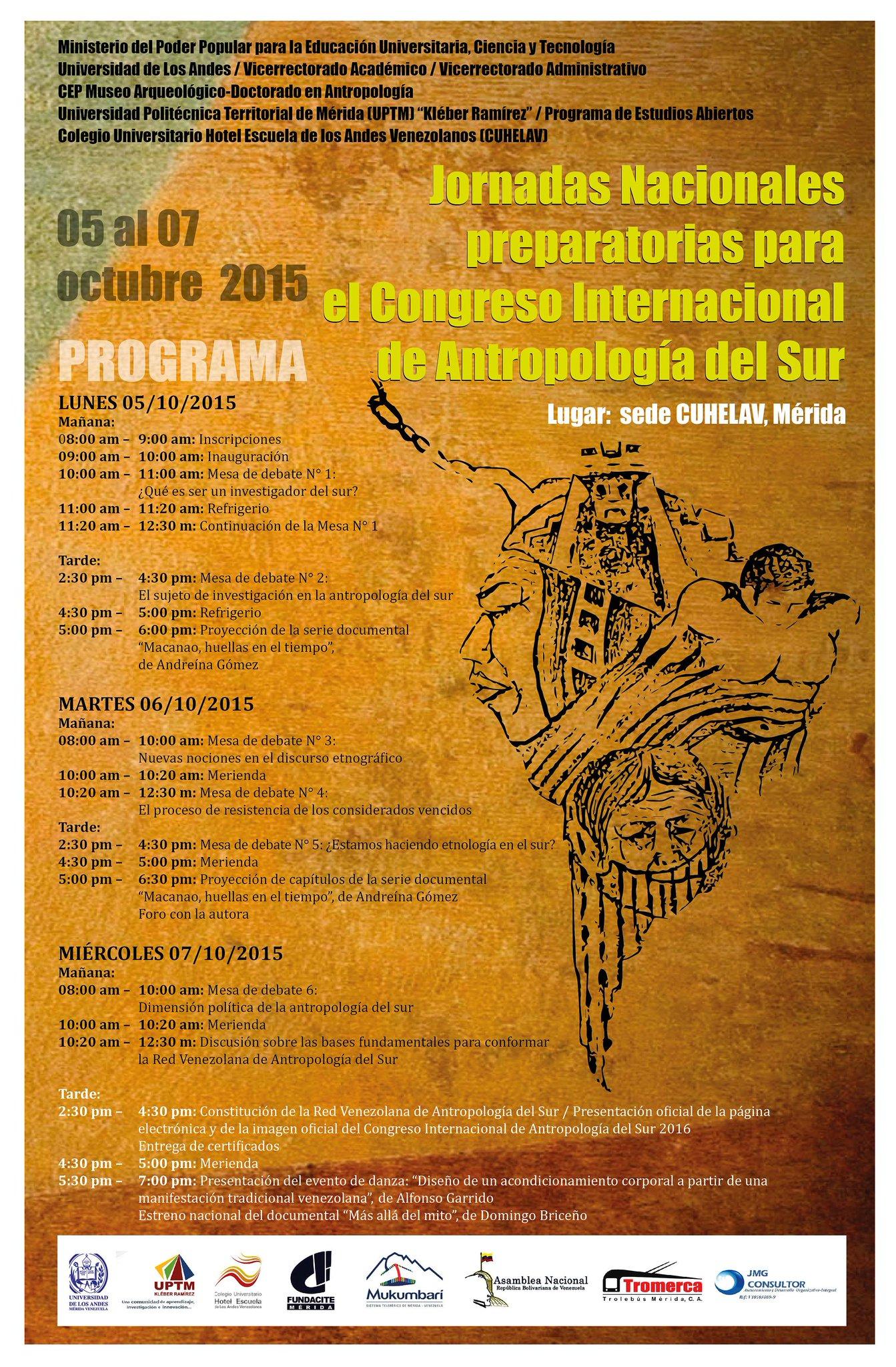 Jornadas Nacionales preparatorias para el Congreso Internacional de Antropología del Sur
