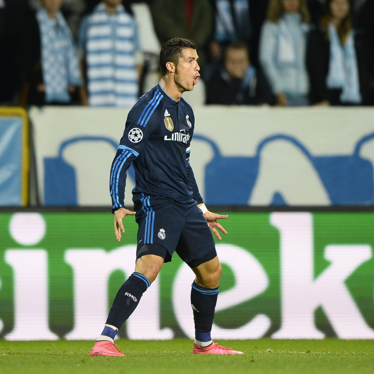 Raúl: 323 goals in 741 Real Madrid games.  Ronaldo: 323 goals in 308 Real Madrid games.  #UCL