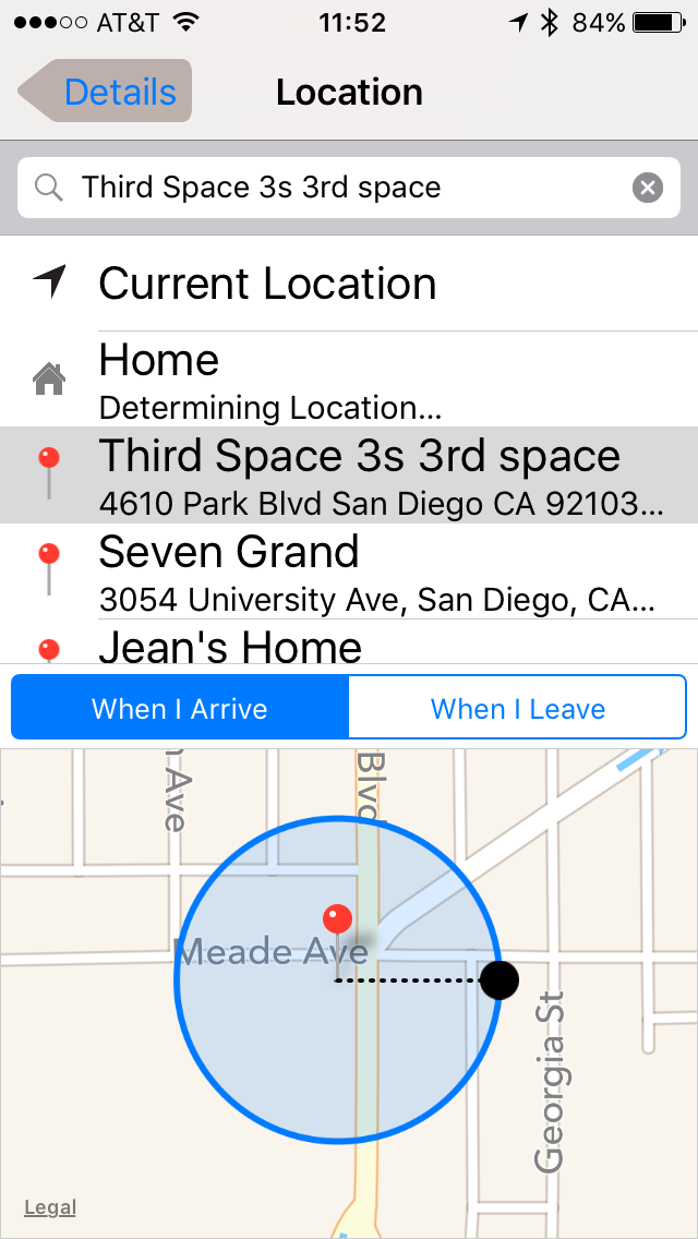 I love how I can set up the geofence size with the Reminders app. http://t.co/b5gJYecCz8
