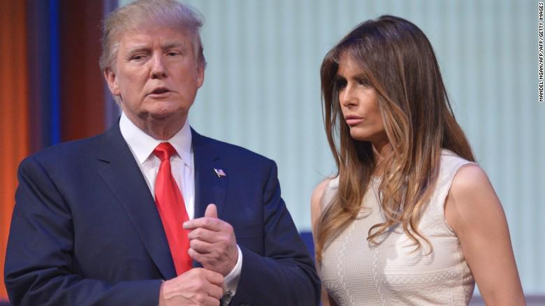 Melania con il marito Donald Trump.
