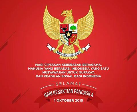Ovajbg84 On Twitter Happy Pancasila Miracle Day Peace N