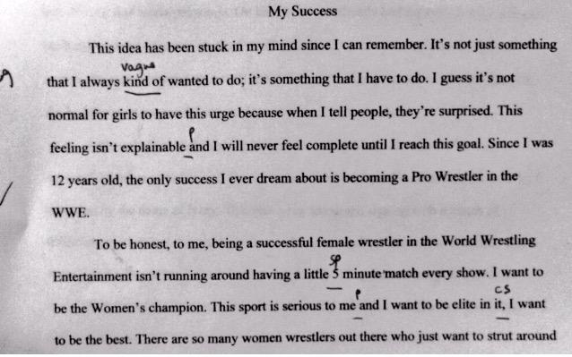 Bayley On Twitter An Old English Essay From High School In One  Bayleyverified Account