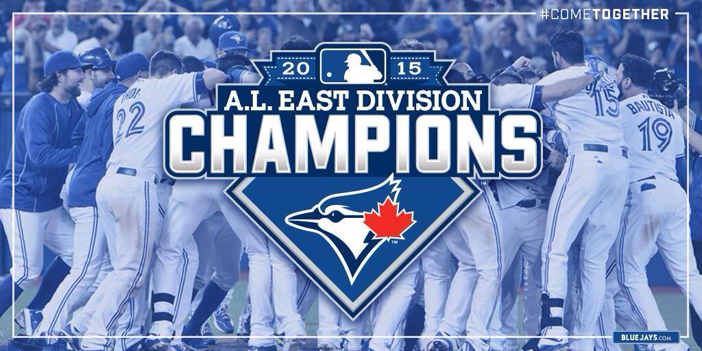 Here we GO!!!  A BIG Congrats on clinching the division @BlueJays! #ClinchDay #ComeTogether http://t.co/T8I9AhBByg