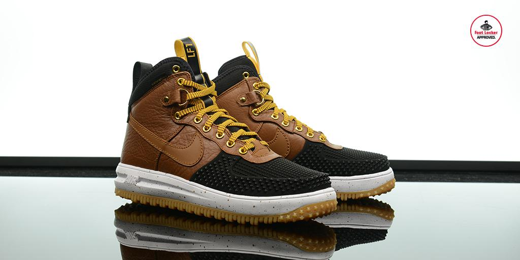16ae02dddeb battle the winter months in the new light tan nike lunar force 1 duckboot  available in