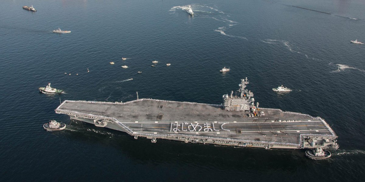 #USSRonaldReagan arrives in #Japan as #USNavy's forward-deployed carrier http://t.co/362A7HSbj4 http://t.co/5gvw7hzrQD