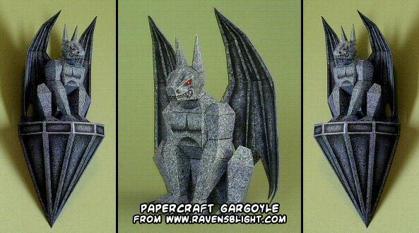 Halloween Bouwplaten.Ninjatoes Papercraft On Twitter Halloween Gargoyle