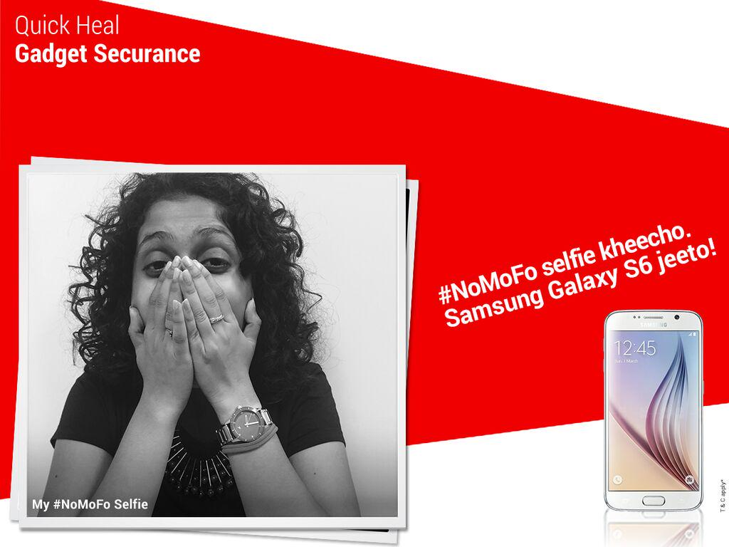 For terms & conditions of the Quick Heal Gadget Securance: 'My #NoMoFo Selfie' contest visit: http://t.co/eOF9SLYcel http://t.co/GghlyGOon8