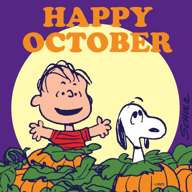 "PEANUTS on Twitter: ""HAPPY OCTOBER! 🎃 http://t.co/fD1OnDwG5y"""