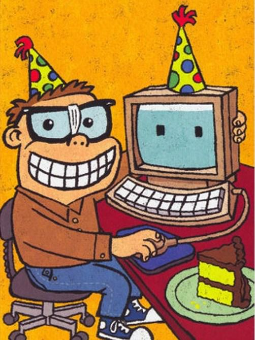 Сделать открытку, открытки к дню рождения программисту