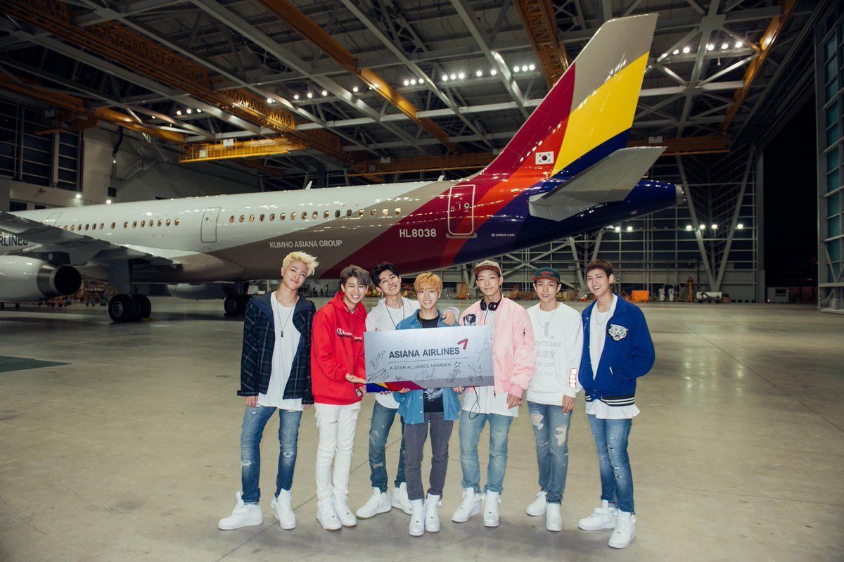 Asiana Airlines is happy to be with iKon's new song, 'Airplane'~!! ▶https://t.co/HnxRqrGcJO http://t.co/DaZpJbxppB